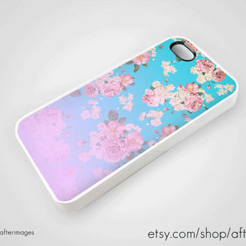 Floral iPhone 5 4 4S Case iPhone 4 Case Soft Grunge by afterimages