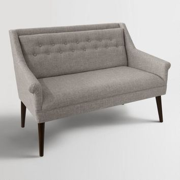 Linen Blend Naveen Upholstered Loveseat
