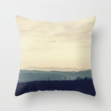 Blue mountains Throw Pillow by Graf Photography