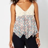 Crochet Tribal Hanky Hem Tank | Going Out | rue21
