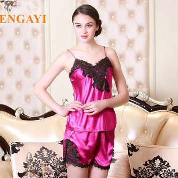 LMFCI7 2016 New Brand Women Night Dress Nightgown Silk Satin Sexy Lingerie Robe Nightwear Lace Nightdress Night Gown Bathrobe DT102
