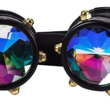 Vintage SteamPunk Glasses Kaleidoscope Goggles