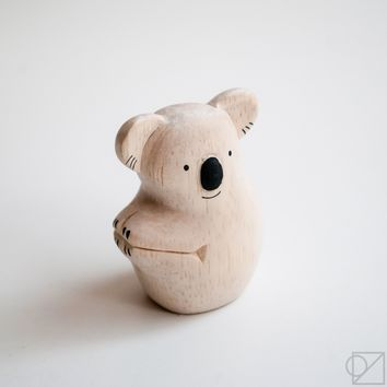 T-lab Handcarved Wooden Koala