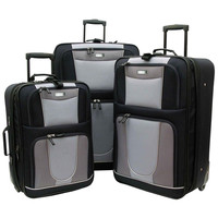 Geoffrey Beene Carnegie Expandable Lightweight Luggage Set