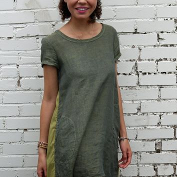 Elodie Dress Olive Martini by CP Shades