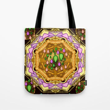 Raining love peace over the creation of life Tote Bag by Pepita Selles