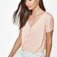 Kendall and Kylie Short Sleeve Button Down Top at PacSun.com