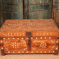 Antique Bone Inlay Chest