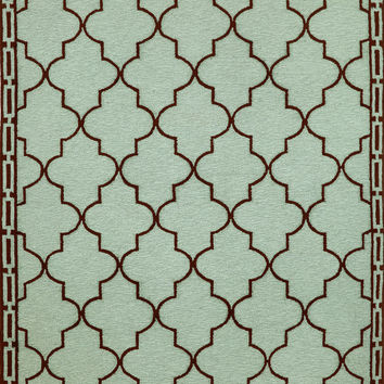 "Floor Tile Aqua 42"" x 66"" Indoor/Outdoor Rug"