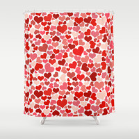 Hearts Collage Shower Curtain by Poppo Inc. | Society6