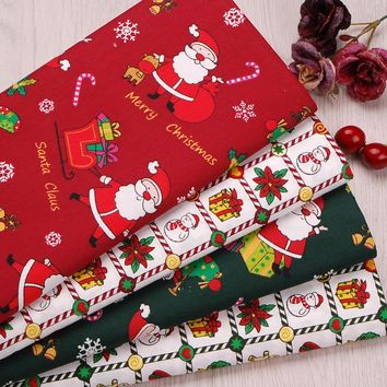2pic/lot 40x50cm Cotton fabric for Sewing tablecloth Patchwork Tissue pillow Bedding Christmas gift tecidos DIY Doll cloth k360