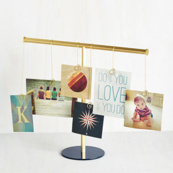 Minimal Flip Down Memory Lane Photo Display by ModCloth