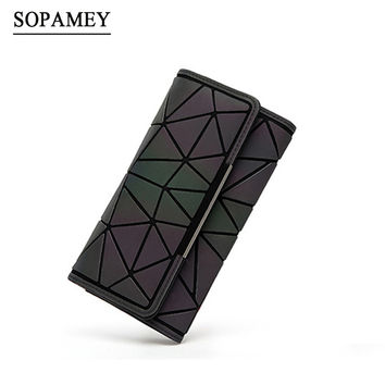 2017 Design Baobao Geometry Women Wallets Purse Luminous Ladies Clutch Phone Bag Female Card Holder Carteira Feminina BaoBao 530-in Wallets from Luggage & Bags on Aliexpress.com | Alibaba Group
