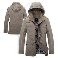 Designer Men Winter Windbreak Jacket with Hood