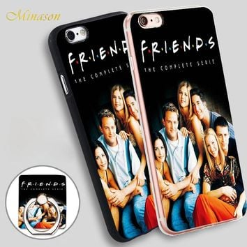 Minason Originals Funny Friends TV Show Mobile Phone Shell Soft TPU Silicone Case Cover for iPhone X 8 5 SE 5S 6 6S 7 Plus