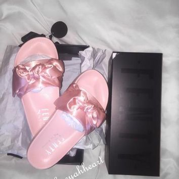 PUMA fenty rihanna silk Bow Slide Sandals Shoes sneakers spring 10-color -6