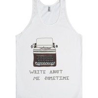 Write about me-Unisex White Tank