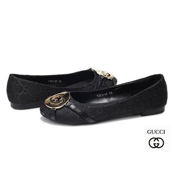 GUCCI Women Fashion Slip-On Low heeled Shoes