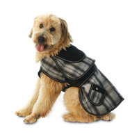 Black Plaid Sherlock Dog Coat