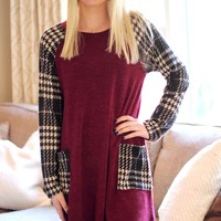 Houndstooth Pocket Dress