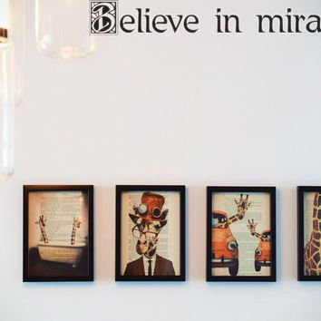 Believe in miracles Style 21 Die Cut Vinyl Decal Sticker Removable