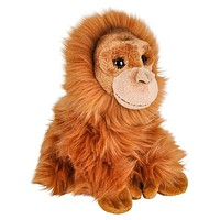 "7"" Stuffed Orangutan Plush Sitting Animal Kingdom Collection"