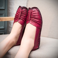 Genuine Leather Handmade Soft Comfortable Flat Shoes