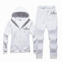GUCCI  Casual Print Hoodie Top Sweater Pants Trousers Set Two-piece Sportswear     woman