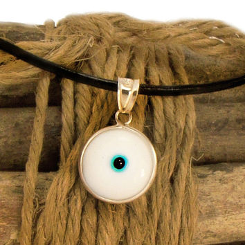 Shop Greek Evil Eye Necklace on Wanelo f6e2af1338