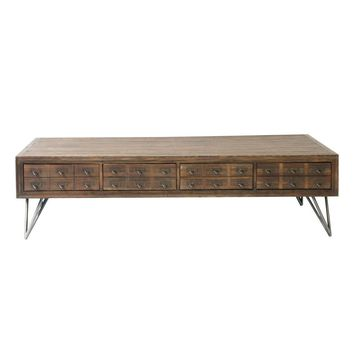 Javadi Coffee Table Solid Reclaimed Elm Wood