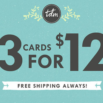 Pick any 3 cards - greeting card packs, your choice