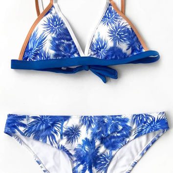 Cupshe Never Be Apart Coconut Bikini Set