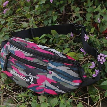 Women Sport Casual Camouflage Letter Print Small Chest Backpack Waist Bag Single Shoulder Messenger Bag