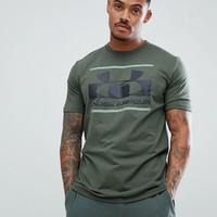 Under Armour Blocked Sportstyle Logo T-Shirt In Green 1305667-330 at asos.com