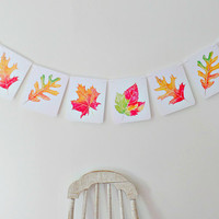 Fall Leaves Banner, Thanksgiving Banner, Autumn decor, Fall party decor, Fall photo props, Harvest party, Fall garland, Halloween decor