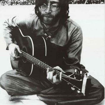 John Lennon Acoustic Meditation Beatles Poster 24x36
