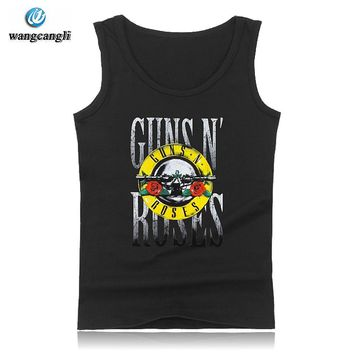 2018 New Summer Punk Rock Style 3D Tank Top Women Fashion GUNS N ROSES T Shirt Sleeveless Vest Loose Fashion Shirt