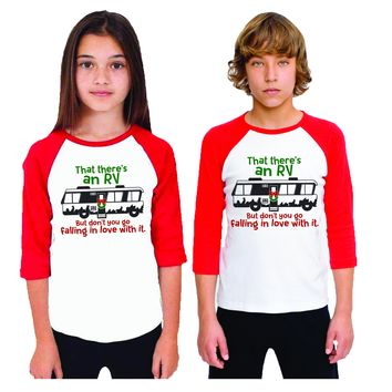 Christmas Vacation Cousin Eddie RV Baseball Shirt For Kids