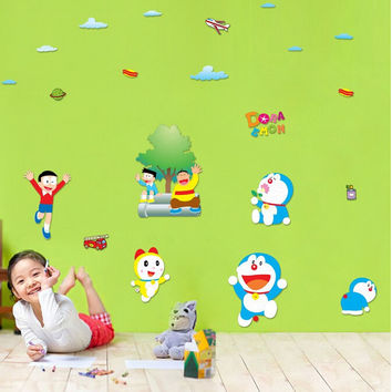 Factory supply can remove wall adornment bedroom porch restaurant setting wall stickers three generations of doraemon SM6