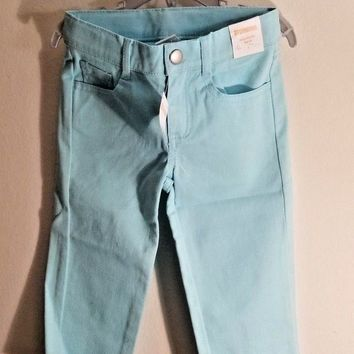 Gymboree Aqua Capri Jeans Toddler Girls Size:5 (4-5 Years)