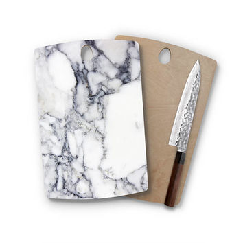 Charcoal Marble Urban Wood Cutting Board Unique Home Decor Cheese Board