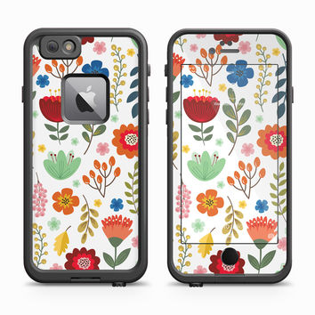 Vector Multi Color Daisy Pattern Skin for the Apple iPhone LifeProof Fre Case