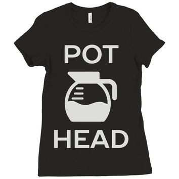 pot head coffee lover Ladies Fitted T-Shirt
