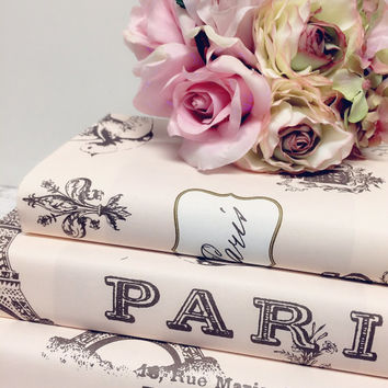 Paris Wedding,BLUSH PINK BOOKS,Pink Wedding,Pink Paris Wedding,Parisian Wedding, Bonjour, Paris Bridal Shower,French Decor,Pink Shabby Chic