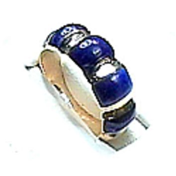Crown Lapis Lazuli and Sterling Silver Rings