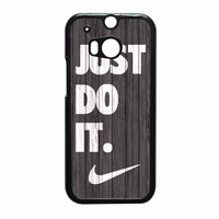 Nike Just Do It Wood Colored Darkwood Wooden HTC One M8 Case