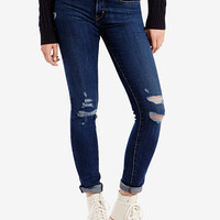 Levi's® 711 Ripped Skinny Damage is Done Wash Jeans - Jeans - Women - Macy's