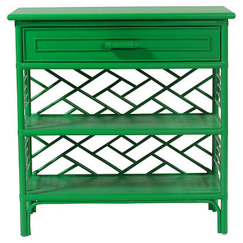 Chippendale Nightstand, Bright Green - Nightstands - Bedroom - Furniture | One Kings Lane