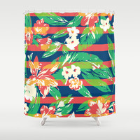 Tropical Shower Curtain by Steven Toang