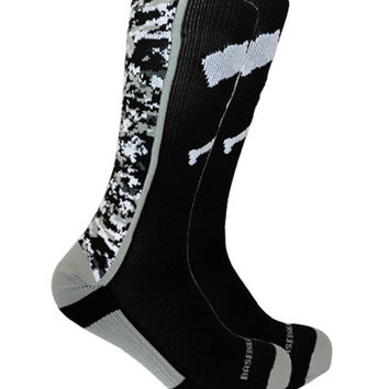Flag Man Black Digi Socks